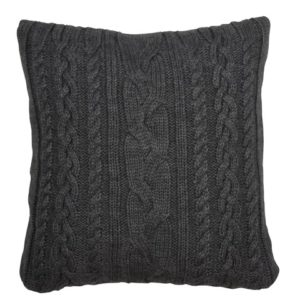 Coussin laine gris foncé Eightmood 45x45
