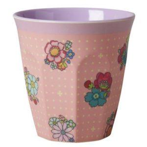 Gobelet Melamine Flower Stitch Print