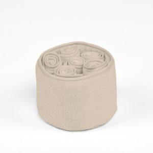 Panier 6 serviettes Simla Beige