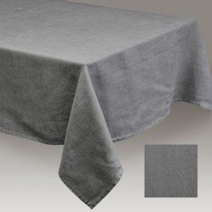 Nappe lin lavé Gris foncé 150 x 250 cm
