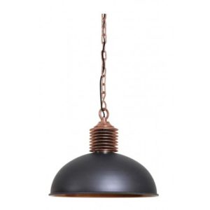 Suspension Amely Industrielle gris et cuivre antique