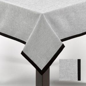 Nappe Simla 180x180 cm Noir et blanc
