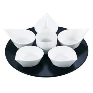 Service apéritif goutte blanc Table et Passion