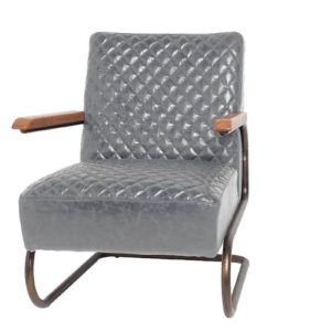 Fauteuil Edward Swing Gris Lifestyle