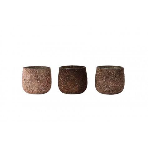p 2 4 9 6 2496 Photophores en verre or et cuivre lot 3 - Photophores en verre cuivre (lot 3)
