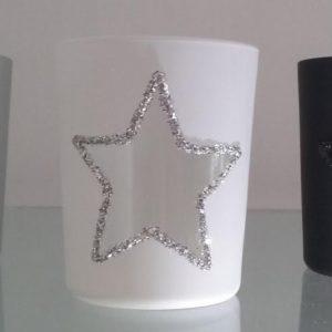 Photophores en verre étoiles (lot 3)