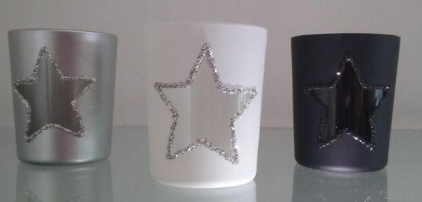 p 2 5 0 0 2500 Photophores en verre etoiles lot 3 - Photophores en verre étoiles (lot 3)