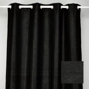 Rideaux Velours noir ocultants x2 140x265cm