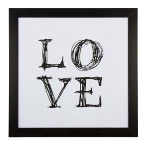 "Cadre ""LOVE"" noir et blanc Eightmood"