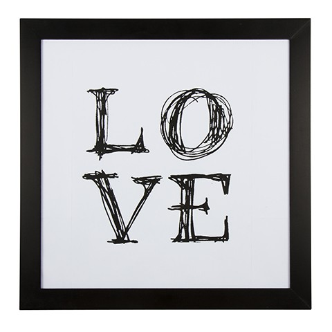 cadre love noir et blanc eightmood my home collection. Black Bedroom Furniture Sets. Home Design Ideas