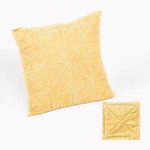 Housse de coussin jaune 45x45 cm