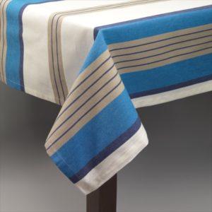Nappe Simla Ecru Beige Bleu 150X260