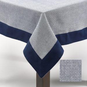 Nappe carrée 180X180 Simla Diamond Bleu