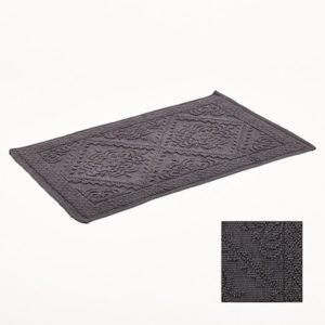 Tapis de bain gris clair jacquard 50x80cm Simla