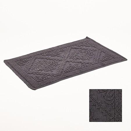 p 2 7 8 6 2786 Tapis de bain gris clair jacquard 50x80cm Simla - Tapis de bain gris anthracite jacquard 50x80cm Simla