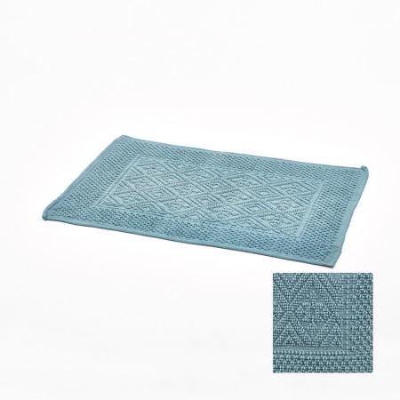 p 2 8 2 3 2823 Tapis de bain gris anthracite jacquard 50x80cm Simla - Tapis de bain bleu jacquard 50x80cm Simla