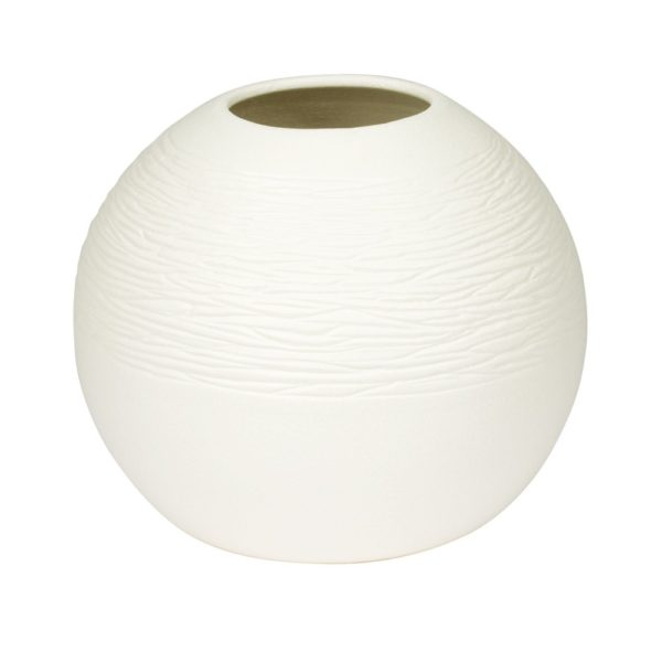 Vase Bergen Blanc 22x18cm