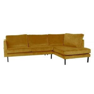 Canapé d'angle droit Velours couleur Perugia Couleurs Lifestyle