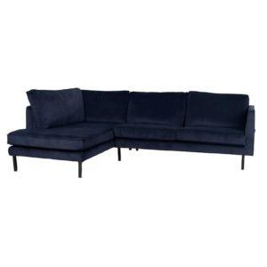 Canapé d'angle gauche Velours couleur Perugia Couleurs Lifestyle