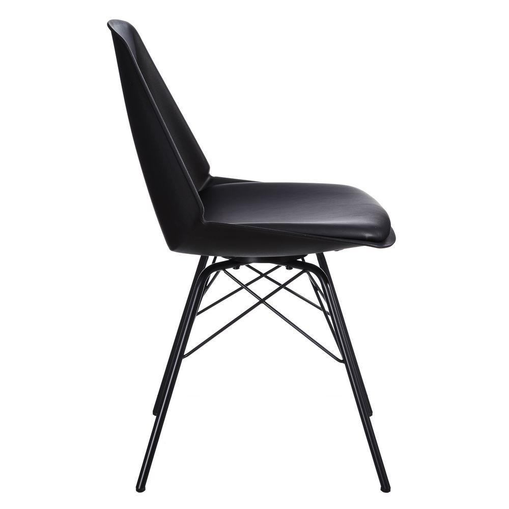 Lot De 2 Chaises Moderne Noir