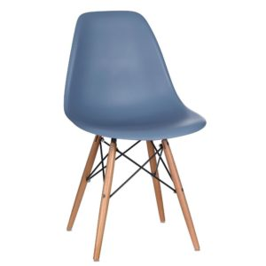 Lot de 2 chaises ABS Vintage Bleu océan