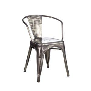 Lot de 4 chaises Métal industriel Dallas