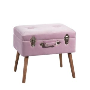 Banquette malle rose