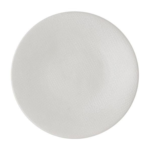 269140 - Lot de 6 Assiette plate Blanc 27cm Vésuvio