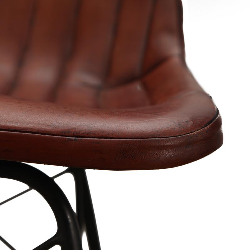 chaise cuir marron clair aviateur - Chaise En Cuir