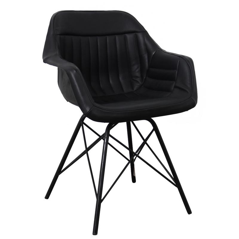 chaise cuir noir pilote aviateur - Chaise Cuir Noir