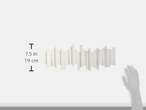 318JbHR1JbL - Patère Sticks blanc UMBRA 5 crochets