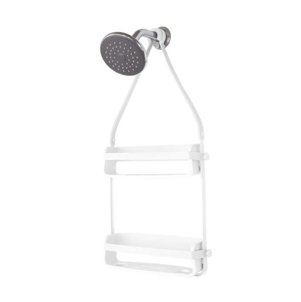 - UMBRA Flex Shower Caddy. Organiseur de douche à 2 étagères