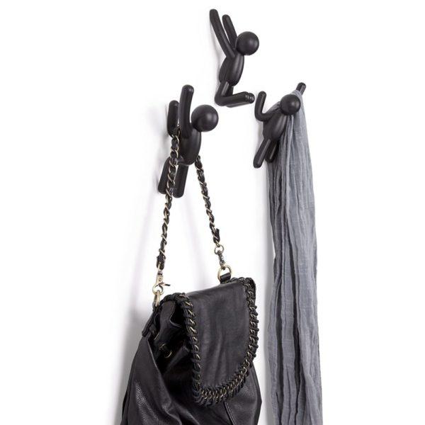 81szqIZy2iL. SL1500 - Crochets muraux Buddy noir UMBRA lot de 3