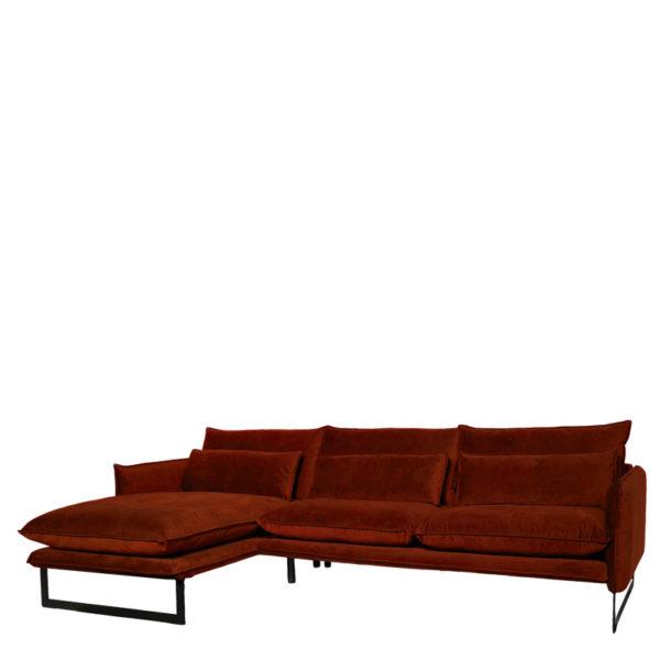 canape angle gauche milan copper lifestyle - Canapé d'angle gauche velours 14 coloris Milan