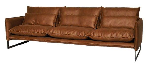 lifestyle milan sofa mersey 4 - Canapé Cuir 3 places Milan 7 Coloris