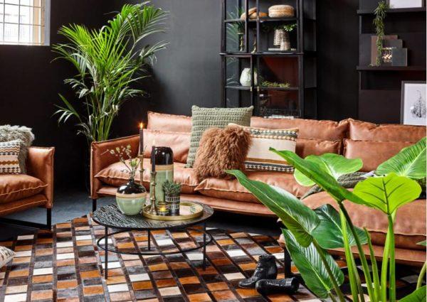 lifestyle milan sofa mersey - Canapé Cuir 3 places Milan 7 Coloris