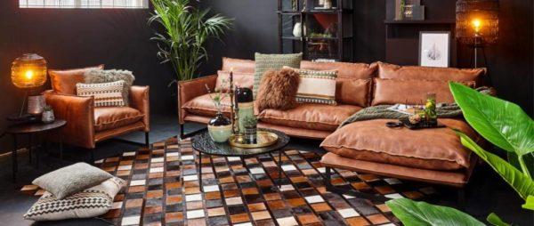 lifestyle milan sofa mersey am2 - Canapé cuir 4 Places 7 coloris Milan