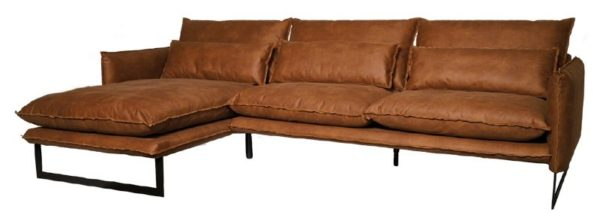 lifestyle milan sofa mersey longe - Canapé Cuir 3 places Milan 7 Coloris