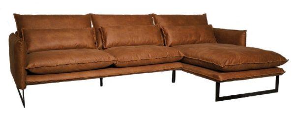 lifestyle milan sofa mersey longe right - Canapé cuir 4 Places 7 coloris Milan