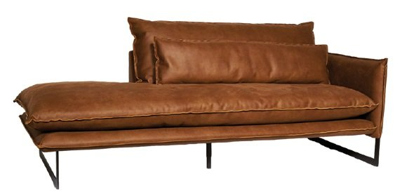 lifestyle milan sofa mersey right - Méridienne Cuir Gauche 7 coloris Milan