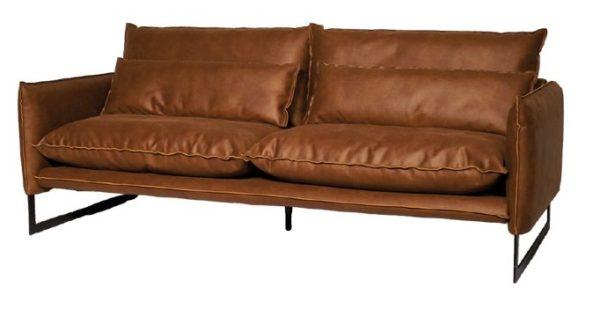 lifestyle milan sofa mersey3 - Canapé Cuir 3 places Milan 7 Coloris
