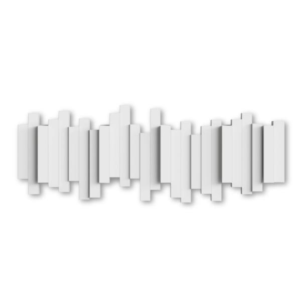 sticks multi hook blanc 3 - Patère Sticks blanc UMBRA 5 crochets