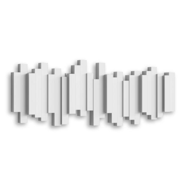 sticks multi hook blanc - Patère Sticks blanc UMBRA 5 crochets