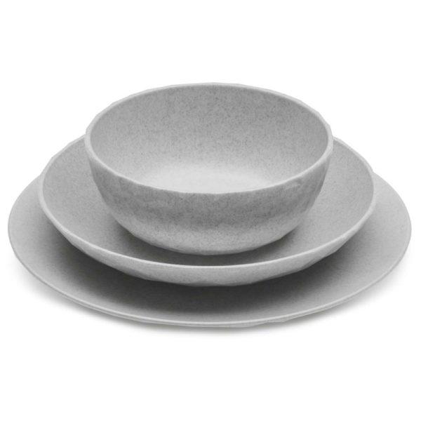 1600px COLOURBOX34790549 1 - Assiette creuse Koziol Club Organic gris lot de 4