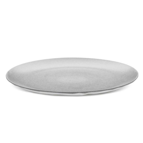 - Assiette plate Koziol Organic gris Lot de 4