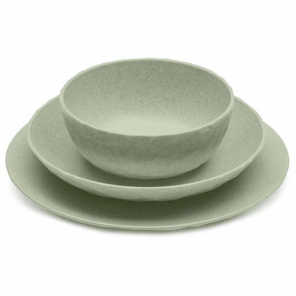 61t XKdY1NL. SL1500 - Assiette plate Koziol Organic vert Lot de 4