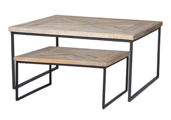 Table basse mickael set de 2 - Tables basses en teck Mickael Set de 2