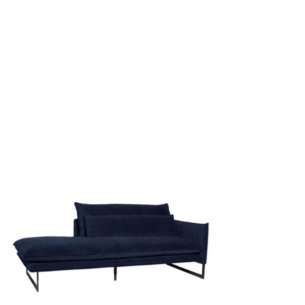 meridienne droite velours bleu navy800 - Méridienne Velours Droite 14 Coloris Milan