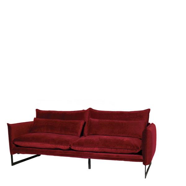 milan 3 seven scarlet800 - Canapé velours 3 places 14 coloris Milan