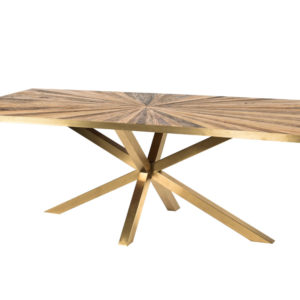 Table Rectangle Gold 240cm Cleme PTMD